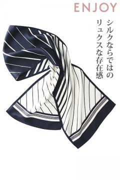 ユニフォームや制服・事務服・作業服・白衣通販の【ユニデポ】【全2色】スカーフ(シルク100%)