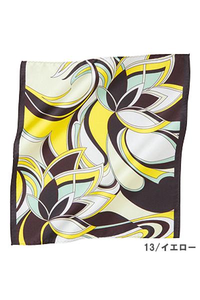 【2色】ミニスカーフ(フラワーモチーフ)