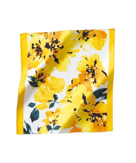 【全3色】花柄ミニスカーフ(スカーフループ専用)