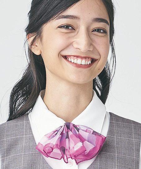 【2色】リボンスカーフ