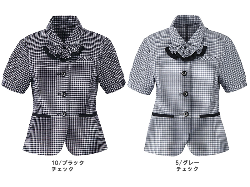 【2色】オーバーブラウス(ミニクロスチェック)