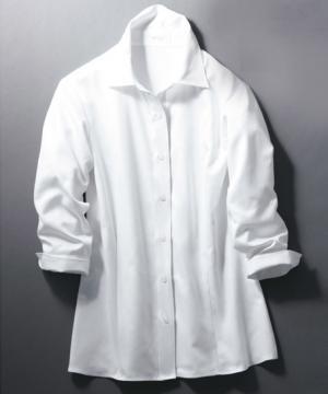 ユニフォームや制服・事務服・作業服・白衣通販の【ユニデポ】【全5色】シャツブラウス(七分袖)