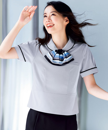 【2色】ポロシャツ(ミニスカーフ付き)
