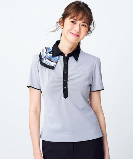 【全2色】ポロシャツ(ミニスカーフ付き)
