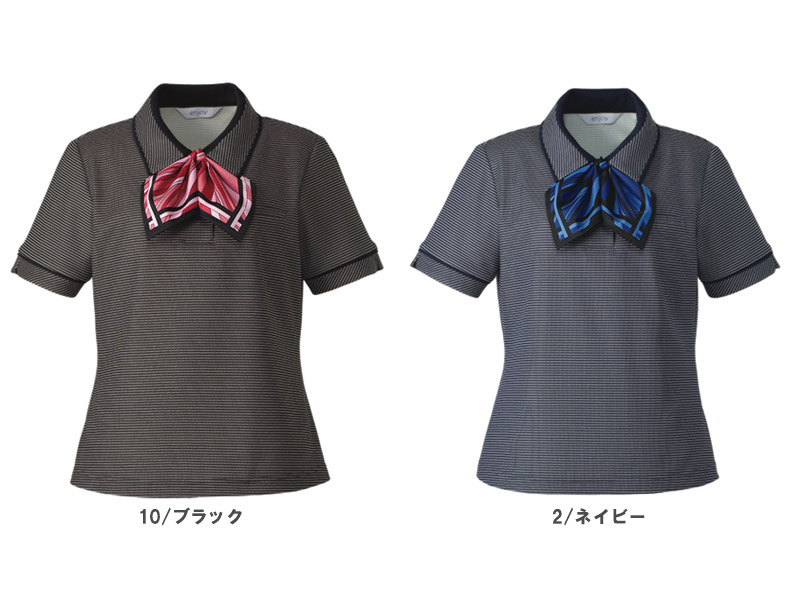 【全2色】オフィスポロ(リボンつき)