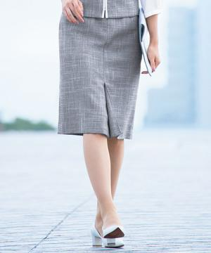 事務服用ユニフォームの通販の【事務服デポ】セミタイトスカート( サマーツイード)
