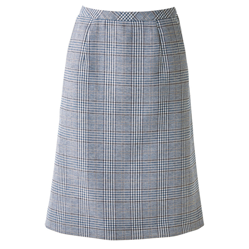 チェック柄Aラインスカート(からみ織り/通気度323cc)