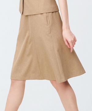 事務服・会社制服用ユニフォームの通販の【事務服デポ】【2色】フレアスカート(メランジ調素材)