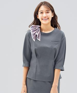 【2色】プルオーバー(七分袖/抗ウイルス加工)