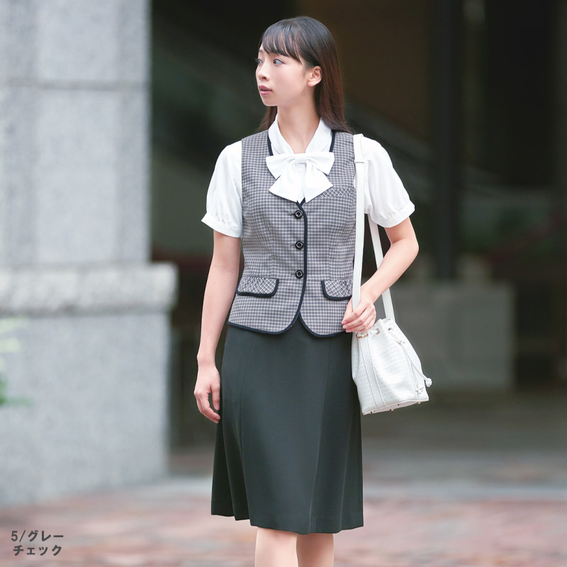 【2色】ベスト(ミニクロスチェック・春夏対応)