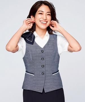 ユニフォームや制服・事務服・作業服・白衣通販の【ユニデポ】【全2色】ベスト(Pair Form 美スラッと Suits Ag)