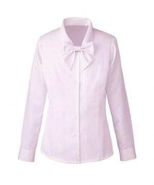 ユニフォームや制服・事務服・作業服・白衣通販の【ユニデポ】【全4色】長袖リボンブラウス(Cool MAX)