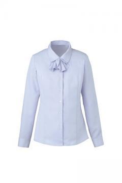 ユニフォームや制服・事務服・作業服・白衣通販の【ユニデポ】【全4色】長袖リボン付きブラウス(Cool MAX)