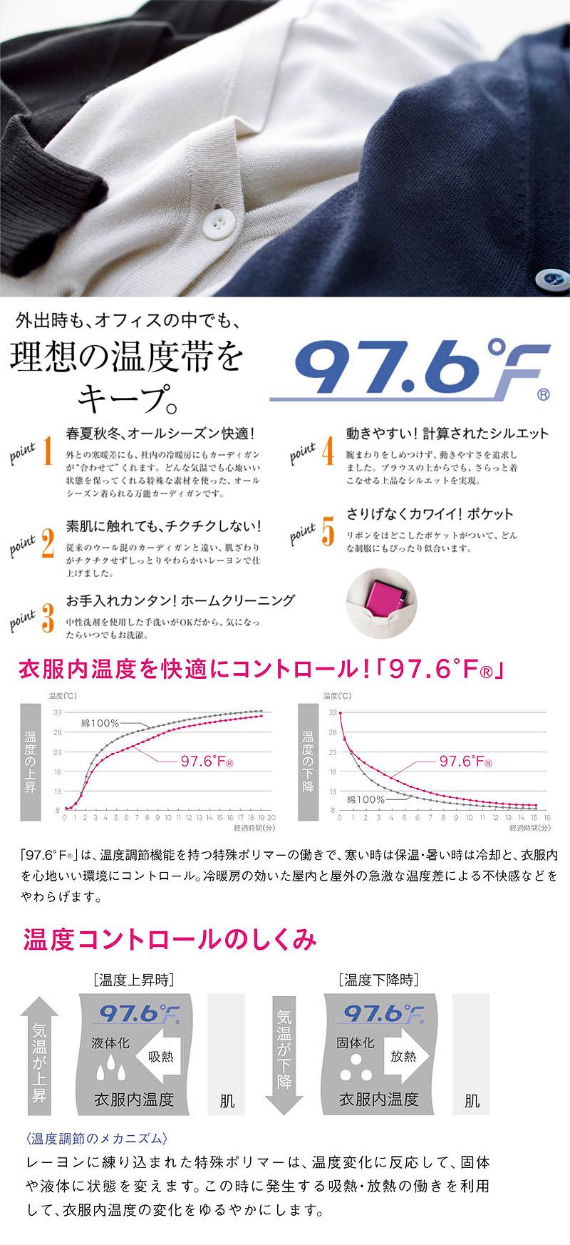 【期間限定SALE】体感マジックカーディガン(温度調節・ホームクリーニング)