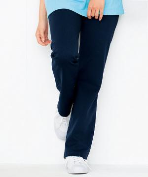 ユニフォームや制服・事務服・作業服・白衣通販の【ユニデポ】ニットブーツカットパンツ(レディス)
