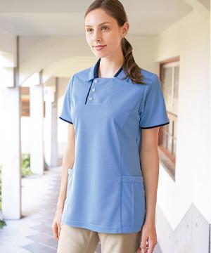 白衣や医療施設用ユニフォームの通販の【メディカルデポ】【全5色】半袖ロングポロシャツ