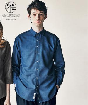 【SCANDINAVIAN】【2色】ロングシャツ(男女共用)