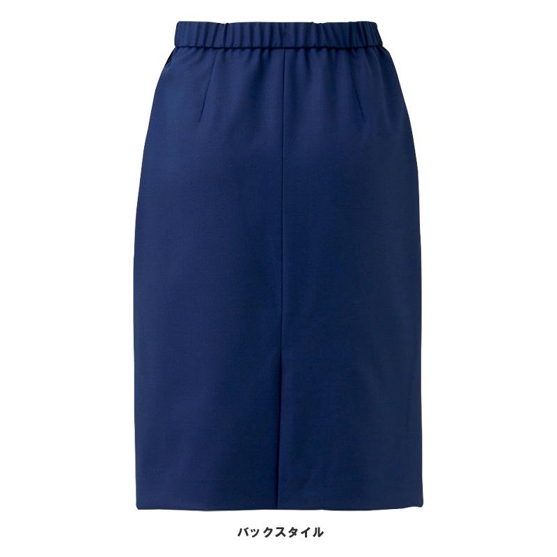 【2色】セミタイトスカート(クロスウールストレッチ)