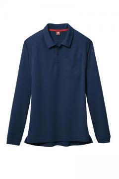作業服の通販の【作業着デポ】長袖ポロシャツ