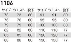 【BURTLEバートル】パワーカーゴパンツ サイズ詳細
