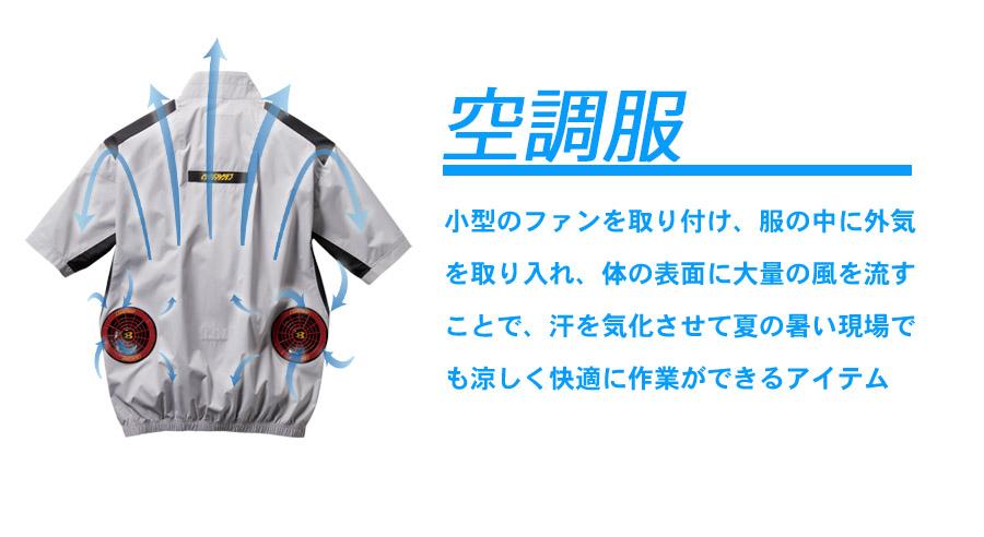 【バートル・エアークラフト】空調服半袖ブルゾン(男女兼用)単品