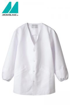 【RHP】V襟長袖調理衣(スナップボタン仕様・袖口ネット)