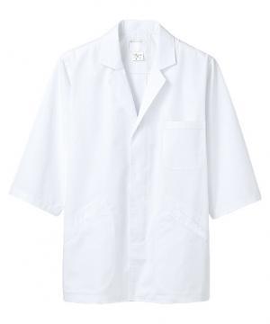 七分袖メンズ調理衣(抗菌O157対応・比翼仕立て/~5Lまであり)