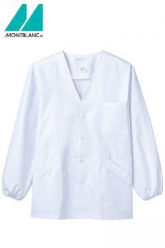 メンズ調理衣(長袖ゴム入り・襟なし・抗菌O157対応/~5Lまであり)