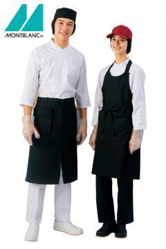 【RHP】七分袖調理コート(耐久防汚加工・制電・袖口ネット)