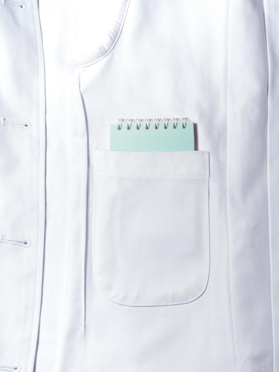はっぴ調理衣(男女兼用・七分袖・抗菌O157対応)