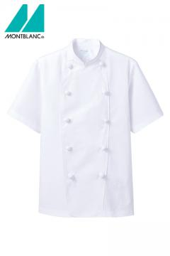 半袖コックコート(麻混素材・薄手タイプ)