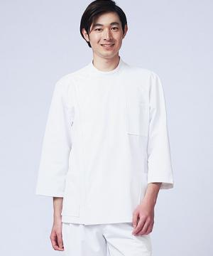 ユニフォームや制服・事務服・作業服・白衣通販の【ユニデポ】メンズケーシー 白衣(8分袖)
