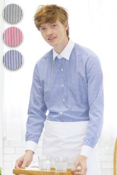 【全3色】ストライプシャツ(メンズ・長袖)