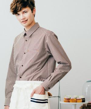 【BLANCE】長袖チェックシャツ(男女兼用/形態安定)