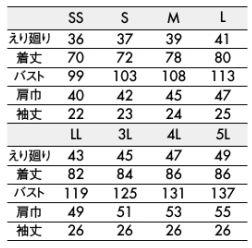 半袖ギンガムチェックシャツ(男女兼用・形態安定) サイズ詳細