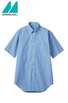 【3色】半袖ギンガムチェックシャツ(男女兼用・形態安定)