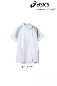 ユニフォームや制服・事務服・作業服・白衣通販の【ユニデポ】asicsレディスジャケット(半袖)