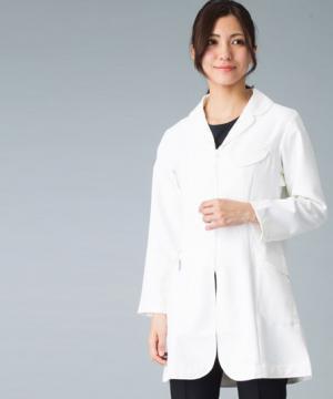白衣や医療施設用ユニフォームの通販の【メディカルデポ】asicsレディスドクターコート白衣(長袖)