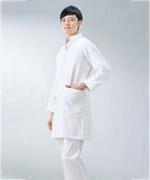 asicsメンズドクターコート白衣(長袖)