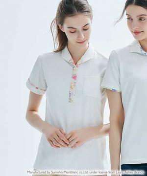 白衣や医療施設用ユニフォームの通販の【メディカルデポ】【LAURA ASHLEY】レディスニットシャツ(半袖)