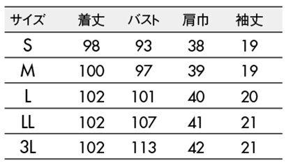 【LAURA ASHLEY】ナースワンピース(半袖) サイズ詳細