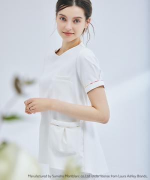 白衣や医療施設用ユニフォームの通販の【メディカルデポ】【LAURA ASHLEY】ナースジャケット(半袖)