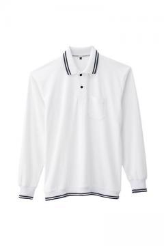 ユニフォームや制服・事務服・作業服・白衣通販の【ユニデポ】裾ジャージ長袖ポロシャツ