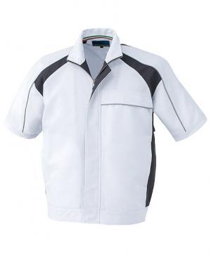 作業服の通販の【作業着デポ】半袖ブルゾン(高通気・接触冷感)