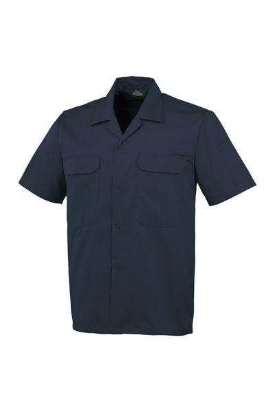 開襟半袖シャツ