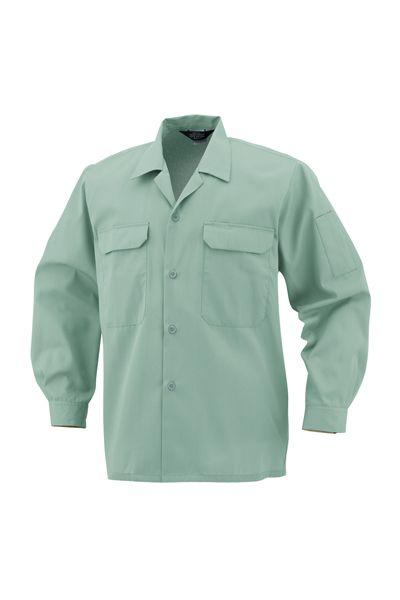 開襟長袖シャツ