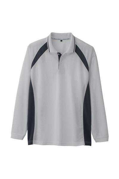 吸水速乾長袖ポロシャツ
