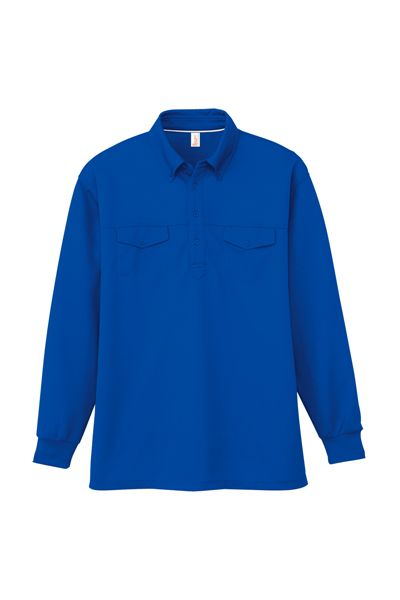消臭・吸汗速乾 長袖BDポロシャツ