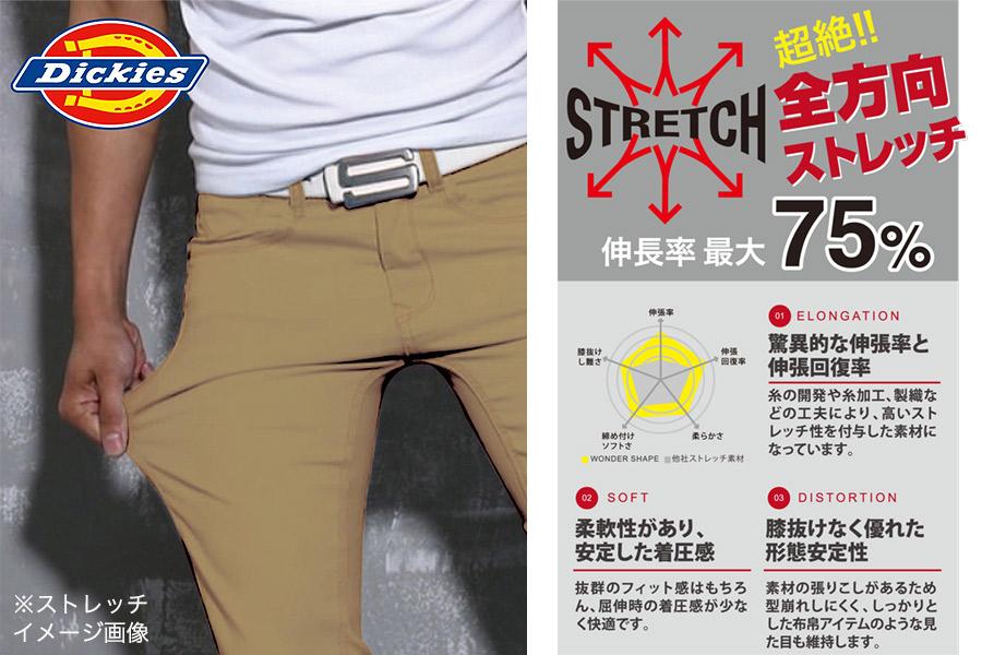 【Dickiesディッキーズ】ストレッチデニムジャケット