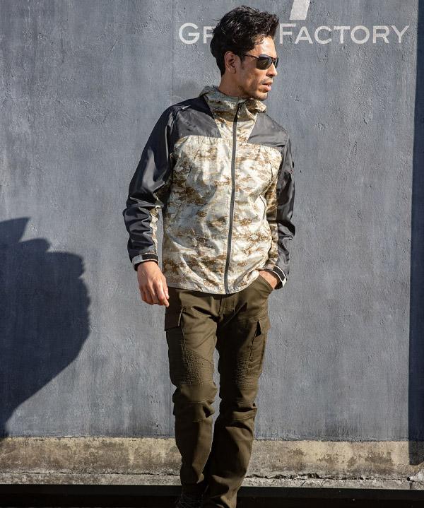 【GLADIATOR】ミリタリーパーカー(通年対応・男女兼用・反射)